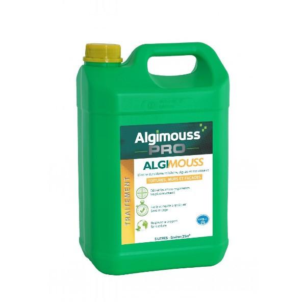 Traitement Toiture, Murs et Façade Algimouss Pro, 5 litres
