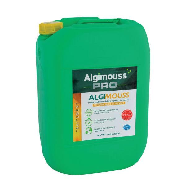 Traitement Toiture, Murs et Façade Algimouss Pro, 30 litres