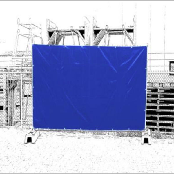 Bâche Clôture Mobile Bleue 1,76 x 3,41 m