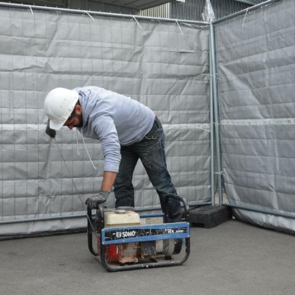 Bâche Acoustique Anti-Bruit avec Ourlet 2 x 3,55 m