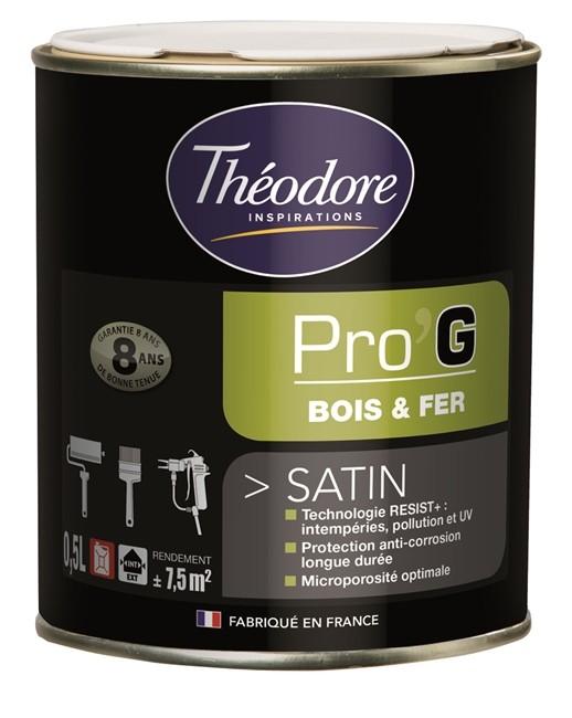 Peinture pour métaux et bois Théolaur Pro'g, couleurs au choix, 3 pots de 0,5l