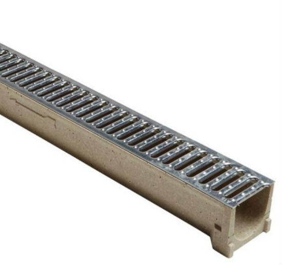 Caniveau béton de polyester ACO D SELF 1m Grille Acier