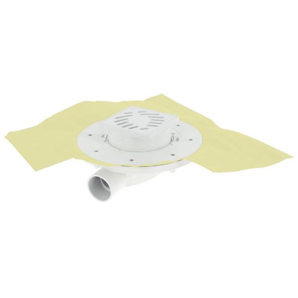 Siphon Extra Plat ⌀ 40 mm PVC 10 x 10 cm Docia Nicoll SFH10NP
