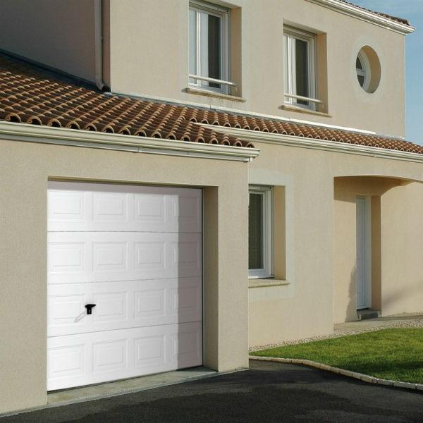 Porte de Garage Sectionnelle Cassette Woodgrain Novoferm Iso 45