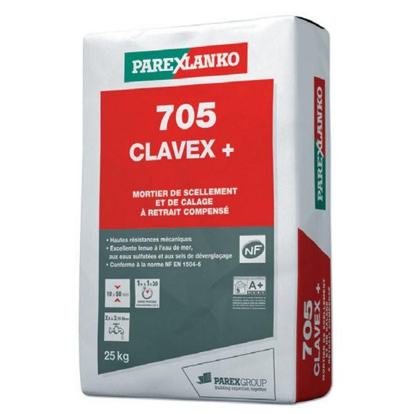 Mortier de Scellement et Calage Clavex + Lanko 705, sac de 25kg