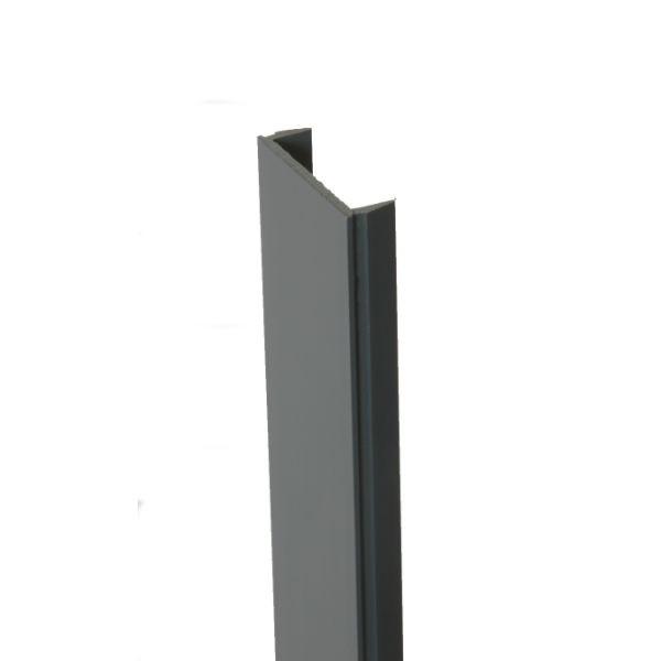 Clip de Finition PVC 2,31 m pour Poteau gris anthracite Clôture Ambre