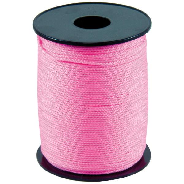 Cordeau Rose Taliaplast 200 m Fil Polypro Tréssé 1,5 mm