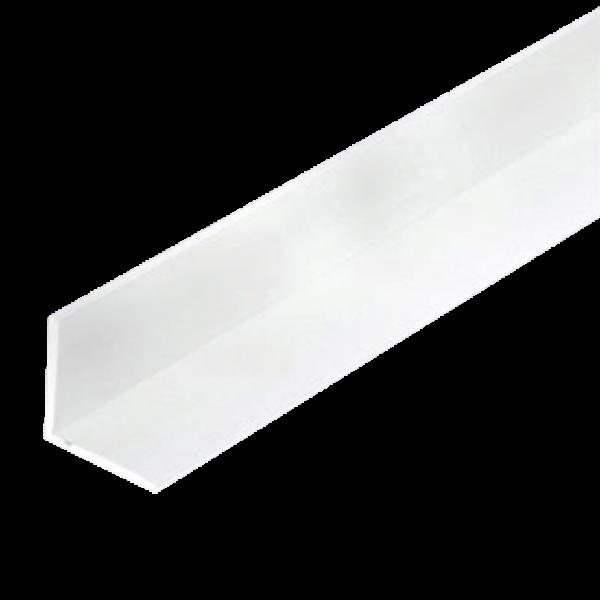 Cornière PVC Blanche 100 x 200 mm, épaisseur 2mm, 3m