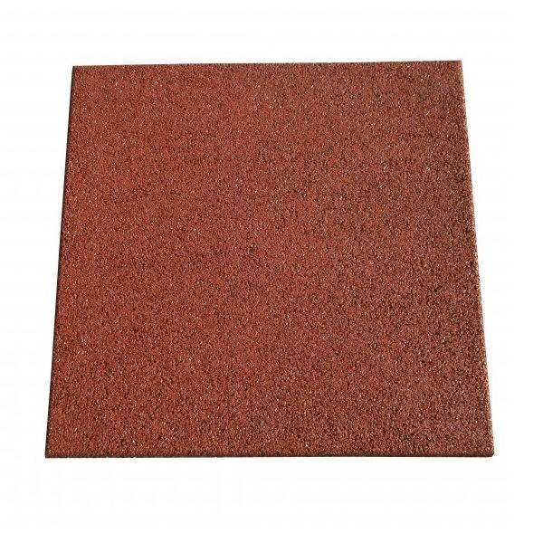 Dalle caoutchouc Hexdalle XE 50x50x2.5 cm, couleur rouge brique, le M2