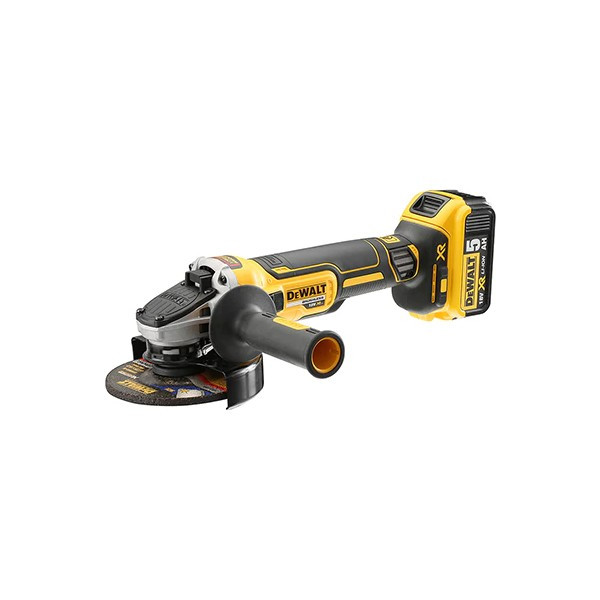 Meuleuse 125mm Dewalt XR Brushless18V 5Ah 2 Batteries, DCG405P2