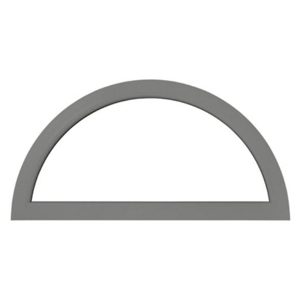 Demi lune fixe en aluminium, couleur au choix, 65 x 130 cm
