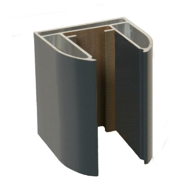 Demi Poteau Alu gris anthracite 2,3 m pour Clôture Ambre 50 x 50 mm