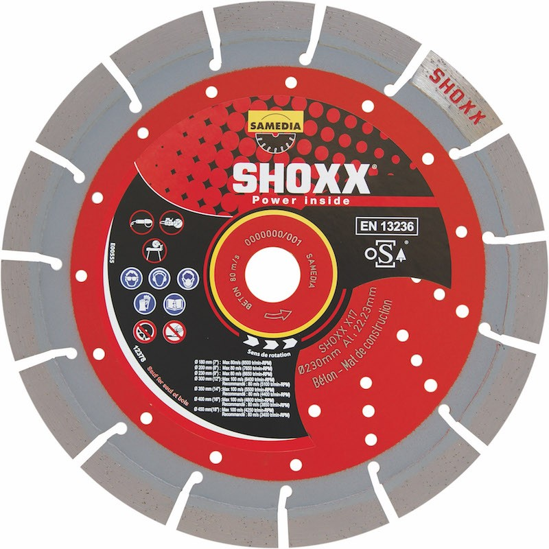 Disque Diamant Béton Shoxx x17 Samedia ⌀ 300mm x 20mm