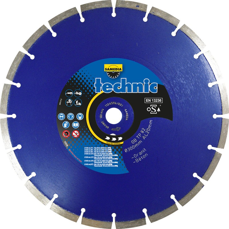 Disque Diamant Granit Technic GB TP 82 Samedia ⌀ 300mm x 20mm