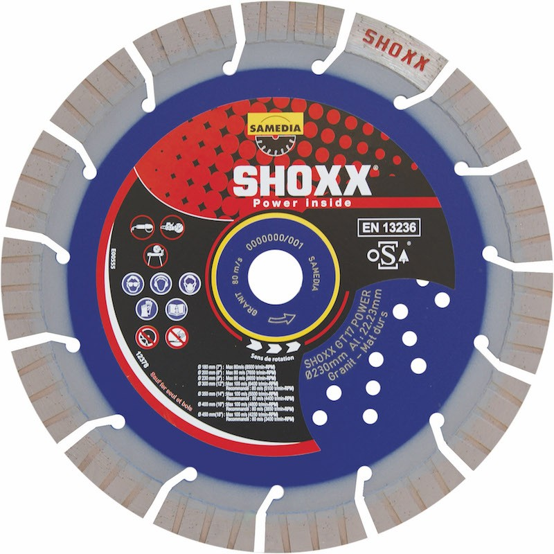 Disque Diamant Granit Shoxx GT 17 Power Samedia ⌀ 300mm x 22,23mm