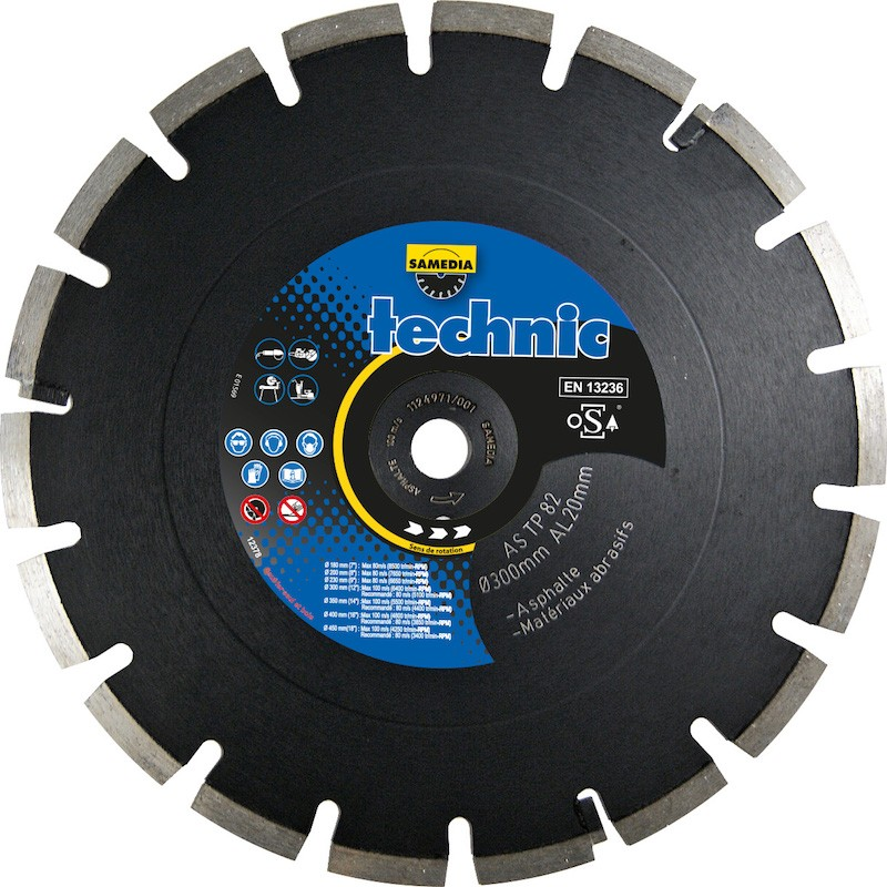 Disque Diamant Asphalte Technic As TP 82 Samedia ⌀ 300mm x 20mm