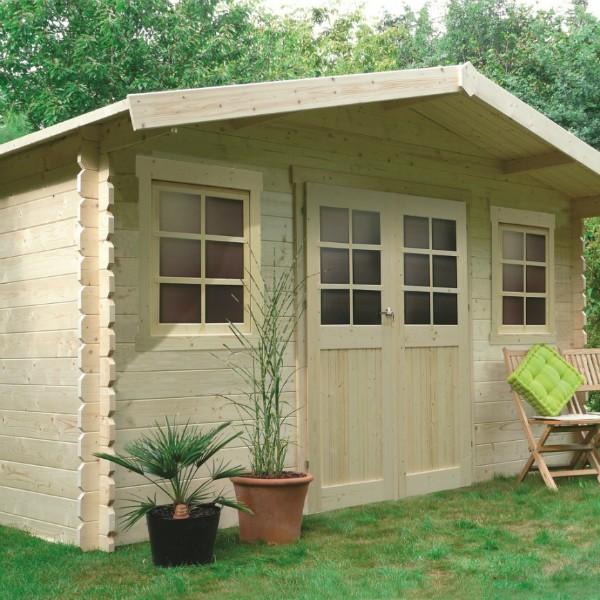 Abri de jardin bois autoclave SOLID modèle DOLE 388x298 cm