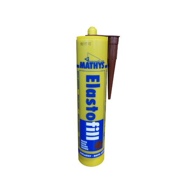 Mastic acrylique Elastofill Mathys brun, cartouche de 310 ml