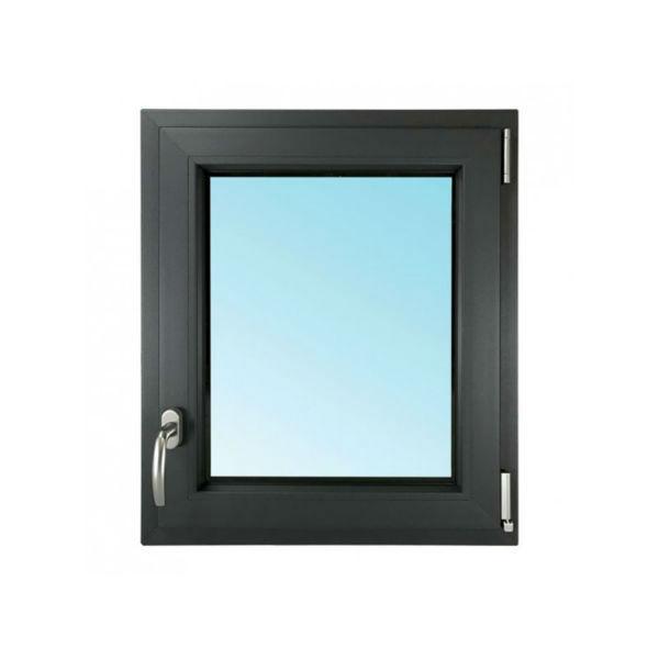 Fenêtre 1 Vantail PVC Gris 7016 45x40 cm OB Verre Granité Tirant Droit