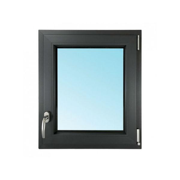 Fenêtre 1 Vantail PVC Gris 7016 45x40 cm Oscillo Battant Tirant Droit