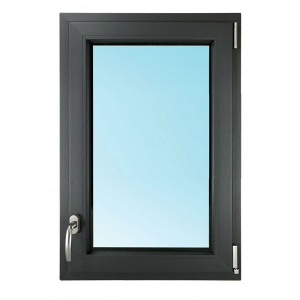 Fenêtre 1 Vantail PVC Gris 7016 115x80 cm Oscillo Battant Tirant Droit