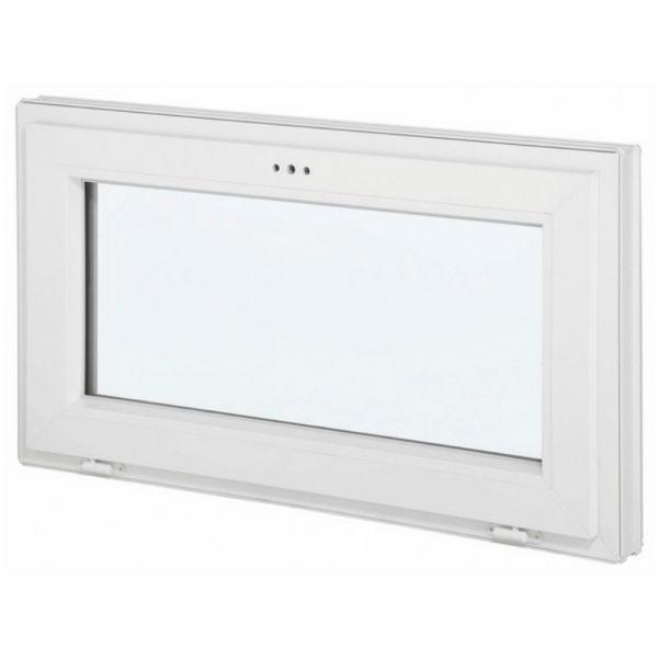 Fenêtre abattant en PVC avec verre granité, 60 cm x 90 cm
