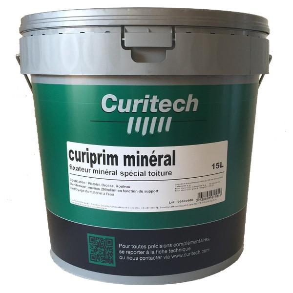 Fixateur de peinture toiture Curiprim minéral Curitech, 15 litres
