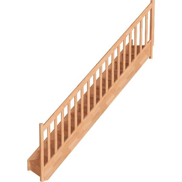 Escalier Droit Hêtre Massif Trémie 85x230 cm