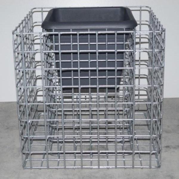 Gabion pour pot de fleurs cube - 42cm