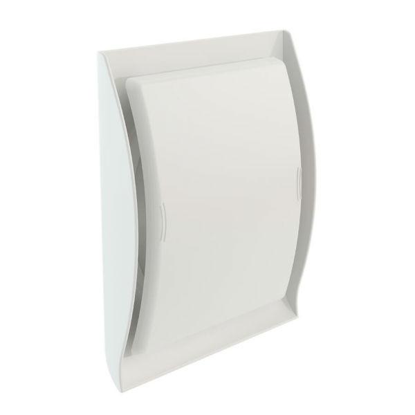 Grille Ventilation Nicoll ⌀ 125 mm Conforme Norme Gaz Neolia Blanc