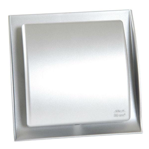 Grille Ventilation Nicoll ⌀ 125 mm Norme Gaz Neolia Inox Brossé