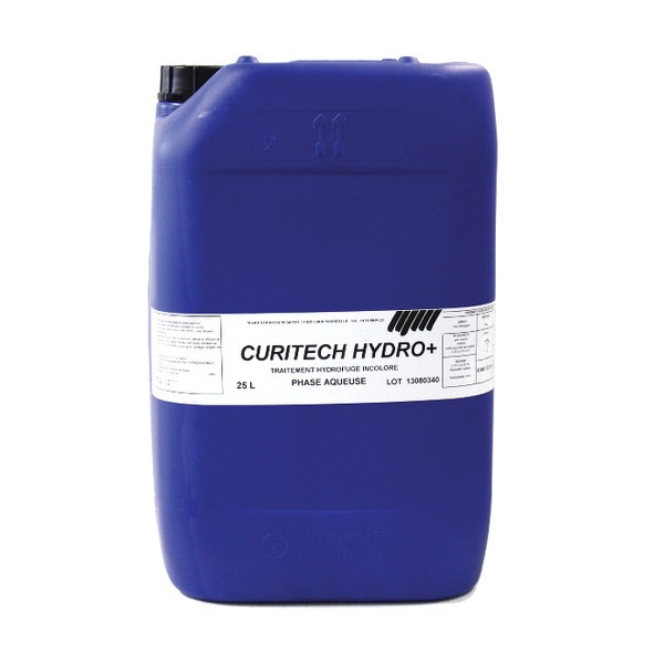 Hydrofuge toiture incolore Curitech Hydro +, 25 litres