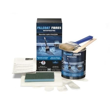 Fillcoat Fibre Kit réparation étanchéité Gris foncé 1l