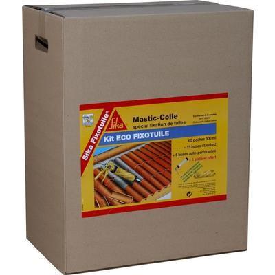 Mastic colle SIKA Kit eco Fixotuile 60 recharges de 300 ml