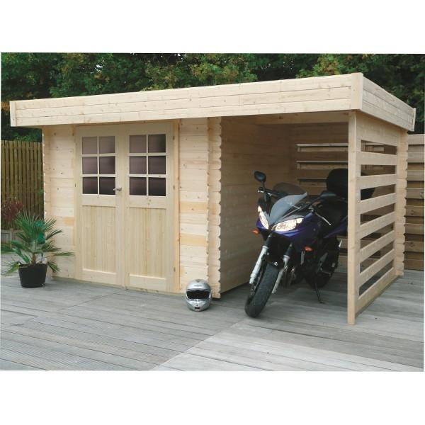 Abri de jardin bois autoclave SOLID modèle LANGRES 238+148x238 cm
