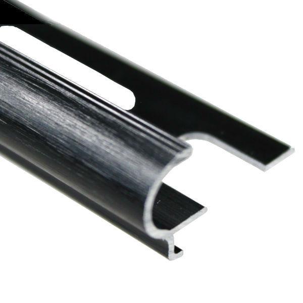 Nez de Marche Arrondi Finition Chromé Mat 11 mm - materiauxnet.com