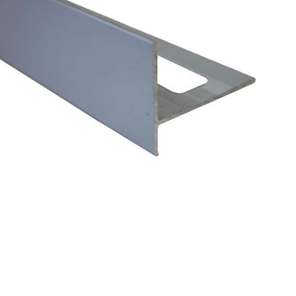Profile Finition Carrelage Carre Chrome Mat 21 Mm Materiauxnet Com