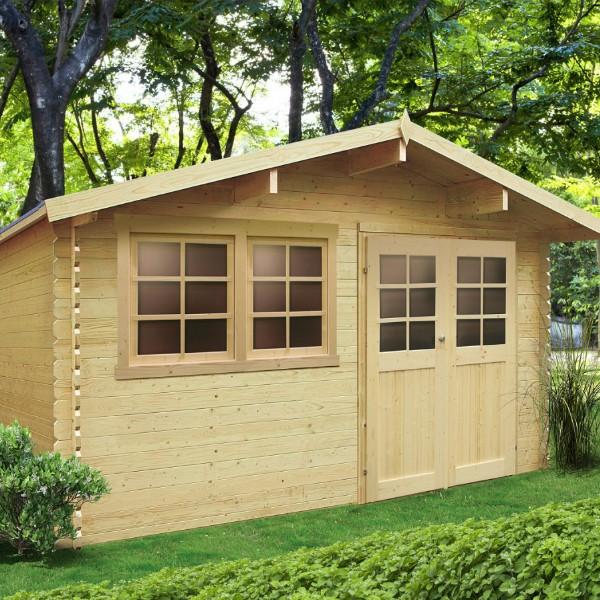 Abri de jardin bois autoclave SOLID modèle NIORT 418x298 cm