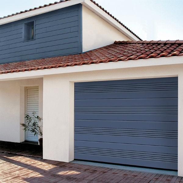 Porte de Garage Sectionnelle Nervure Maeva Novoferm Iso20