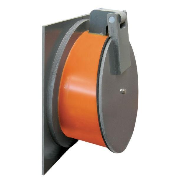 Clapet de nez PVC avec platine à coller diamètre 200 mm