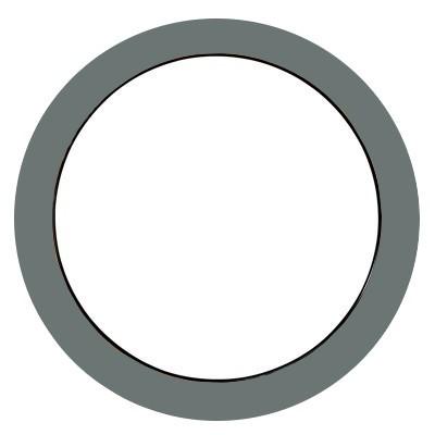 Oeil de boeuf fixe aluminium couleur au choix, rond diamètre 80 cm