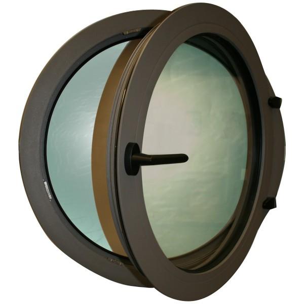 Oeil de boeuf ouvrant aluminium couleur au choix, rond diam 60 cm
