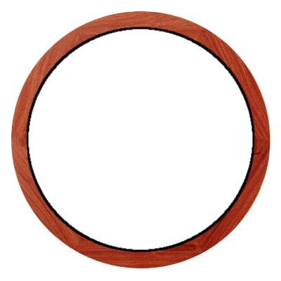 Oeil de boeuf fixe en bois exotique, rond diamètre 80 cm