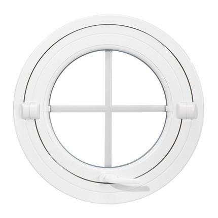 Oeil de boeuf basculant en PVC, rond diamètre 80 cm