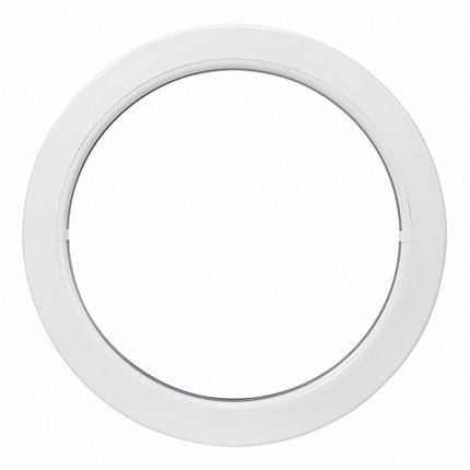 Oeil de boeuf fixe en PVC, ovale 65 x 50 cm