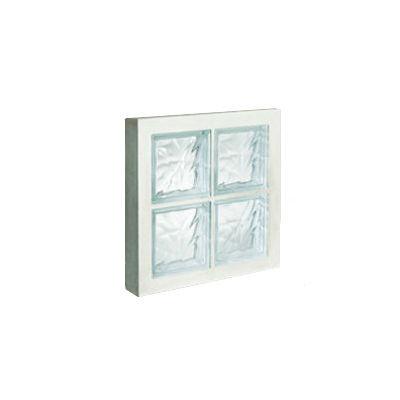 Panneau de 4 briques de verre La Rochère n°22 incolore, 47 x 47 cm