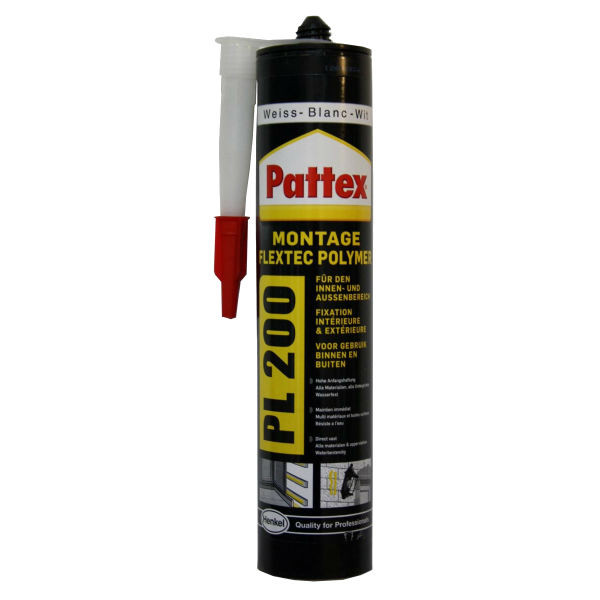 Colle Fixation Blanche Pattex PL200, 480g