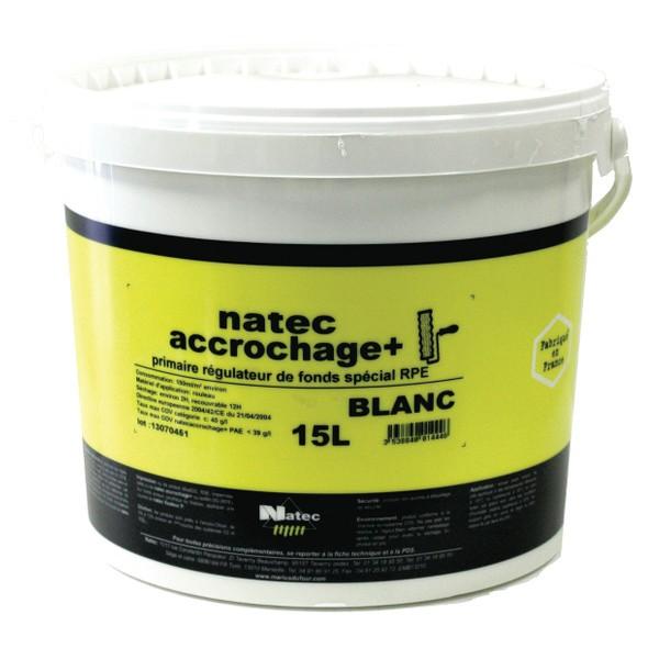Peinture acrylique granité Natec accrochage +, blanc, 15 litres
