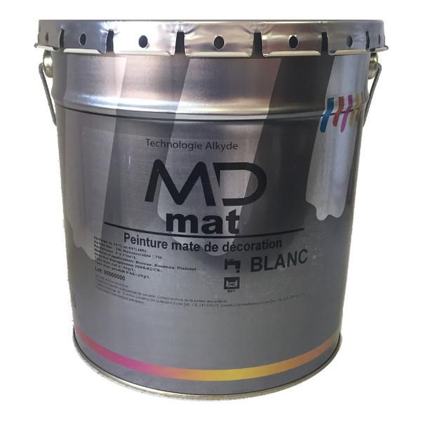 Peinture blanche intérieur, mur et plafond, MD Mat, 1 litre