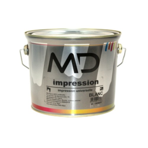 Peinture primaire MD Impression tous supports, blanc, 2,5 litres